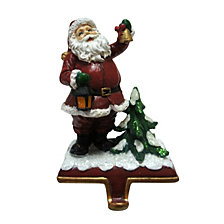 "National Tree Company 6.5"" Santa holding a Bell Stocking Holder"