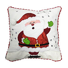 "National Tree Company 16"" x 16"" Cushion with Santa Clause Design"