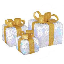National Tree Company Pre-Lit White Gift Box Assortment