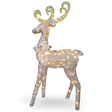 "National Tree Company 60"" Reindeer Decoration with Clear Lights"