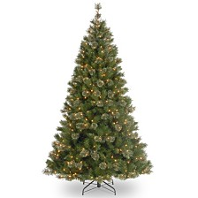 National Tree 7 .5' Atlanta Spruce Hinged Tree with 550 Clear Lights