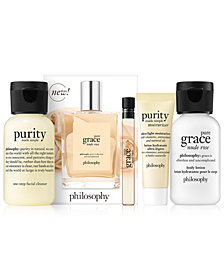 Receive a FREE 5-pc Macy's Exclusive gift with any $36 philosophy purchase!
