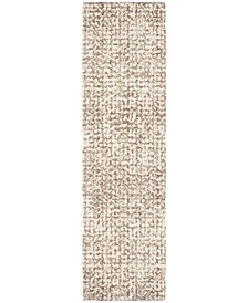"Cotton Tail Ditto White 2'3"" x 8' Runner Area Rug"