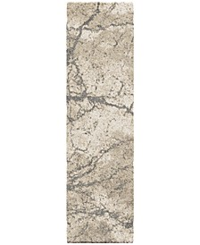 "Carolina Wild Marquina Natural 2'3"" x 8' Runner Area Rug"