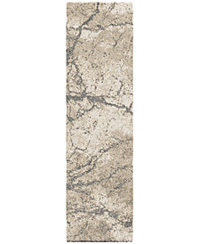 "Orian Carolina Wild Marquina Natural 2'3"" x 8' Runner Area Rug"