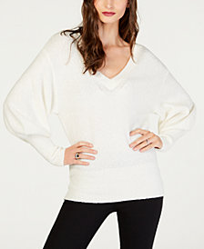 MICHAEL Michael Kors Bishop-Sleeve Banded-Hem Sweater