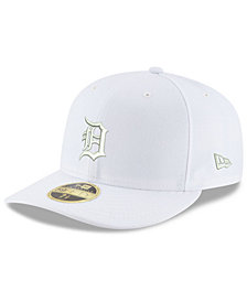New Era Detroit Tigers Triple White Low Profile 59FIFTY Fitted Cap