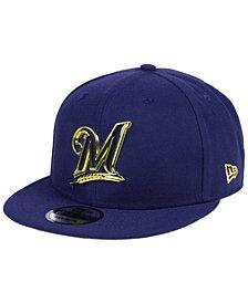 New Era Milwaukee Brewers Metal Framed 9FIFTY Snapback Cap