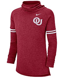 Nike Women's Oklahoma Sooners Funnel Neck Long Sleeve T-Shirt
