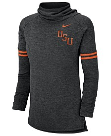 Nike Women's Oklahoma State Cowboys Funnel Neck Long Sleeve T-Shirt