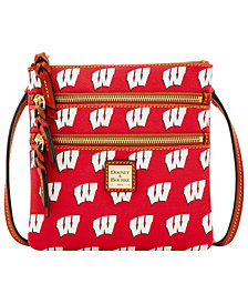Dooney & Bourke Wisconsin Badgers Triple Zip Crossbody Bag