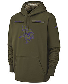 Nike Men's Minnesota Vikings Salute To Service Therma Hoodie