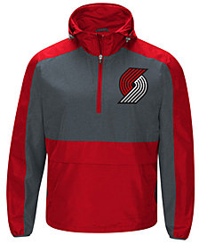 G-III Sports Men's Portland Trail Blazers Leadoff Lightweight Half-Zip Jacket