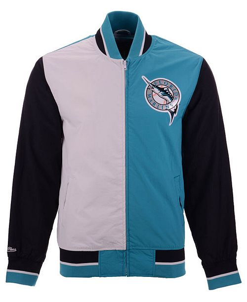 e39fe1eff ... Mitchell   Ness Men s Florida Marlins Team History Warm Up Jacket ...