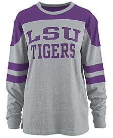 Pressbox Women's LSU Tigers Appliqué Boyfriend Long Sleeve T-Shirt
