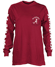 Pressbox Women's Alabama Crimson Tide Long Sleeve Pocket T-Shirt