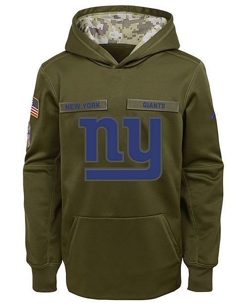newest d691d 9bd72 Nike New York Giants Salute To Service Therma Hoodie, Big ...