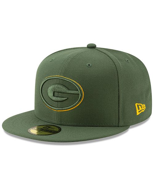 c74a24b5 New Era Green Bay Packers Logo Elements Collection 59FIFTY FITTED ...