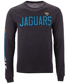 Authentic NFL Apparel Men's Jacksonville Jaguars Streak Route Long Sleeve T-Shirt