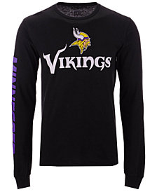Authentic NFL Apparel Men's Minnesota Vikings Streak Route Long Sleeve T-Shirt