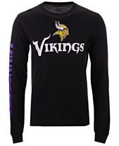 Authentic NFL Apparel Men s Minnesota Vikings Streak Route Long Sleeve  T-Shirt 6afc1de72