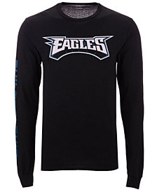 Authentic NFL Apparel Men's Philadelphia Eagles Streak Route Long Sleeve T-Shirt