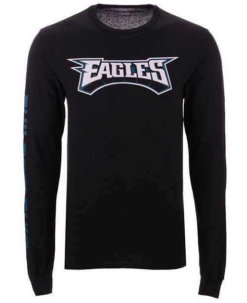 8d36789c ... Authentic NFL Apparel Men's Philadelphia Eagles Streak Route Long  Sleeve T-Shirt ...