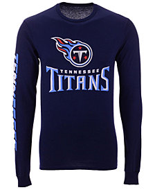 Authentic NFL Apparel Men's Tennessee Titans Streak Route Long Sleeve T-Shirt