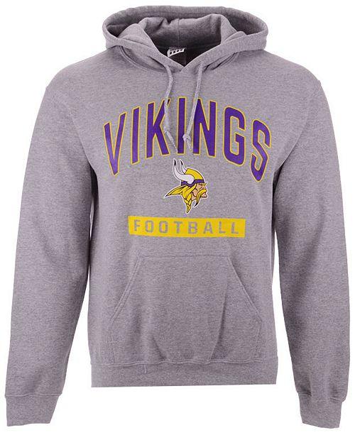 Authentic NFL Apparel Men's Minnesota Vikings Gym Class Hoodie