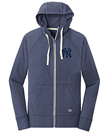 New Era New York Yankees Triblend Fleece Full-Zip Sweatshirt