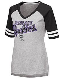 G-III Sports Women's Colorado Rockies Goal Line Raglan T-Shirt
