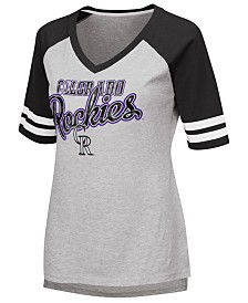 G-III Sports Women's Colorado Rockies Goal Line Raglan T-Shirt