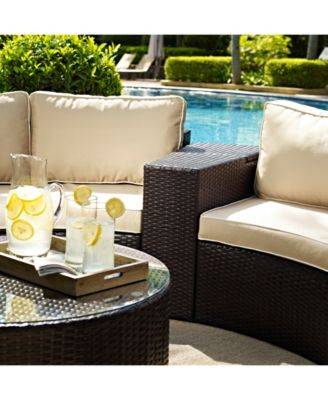 Catalina Outdoor Wicker Arm Table