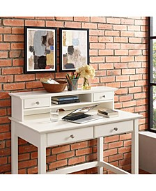 Campbell Writing Desk Hutch