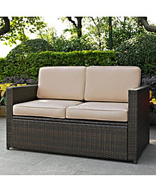 Palm Harbor Outdoor Wicker Loveseat With Cushions
