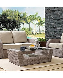 St Augustine Outdoor Wicker Coffee Table
