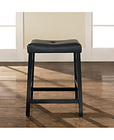 """Upholstered Saddle Seat Bar Stool With 24"""" Seat Height (Set Of 2)"""
