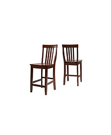 """School House Bar Stool With 24"""" Seat Height (Set Of 2)"""