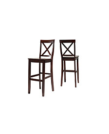 """X-Back Bar Stool With 30"""" Seat Height (Set Of 2)"""