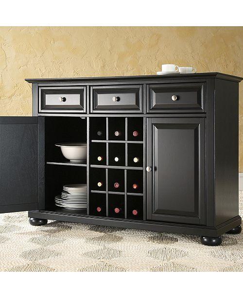 Crosley Alexandria Buffet Server Sideboard Cabinet With Wine Storage