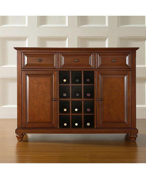 Crosley Cambridge Buffet Server Sideboard Cabinet With Wine Storage