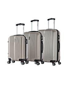 "InUSA San Francisco 3-Piece 18""/ 22""/ 26"" Lightweight Hardside Spinner Set"