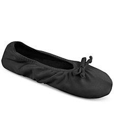 MUK LUKS® Women's Stretch Satin Ballerina Slippers