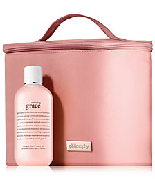GET EVEN MORE Receive a FREE Amazing Grace Shower Gel and Pink Vanity Case with any $100 philosophy purchase!