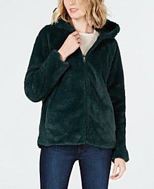 Style & Co Petite Faux-Fur Hooded Jacket, Created for Macy's