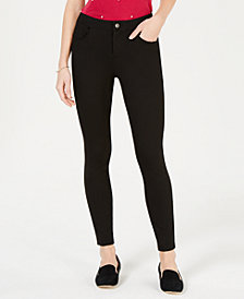 Maison Jules Ponté-Knit Skinny Pants, Created for Macy's