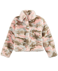 Epic Threads Big Girls Faux Fur Camouflage Jacket, Created for Macy's