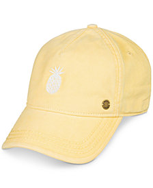 Roxy Juniors' Embroidered Pineapple Baseball Cap
