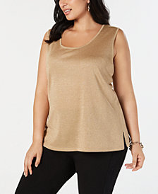 Anne Klein Plus Size Sleeveless Sweater