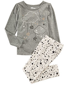 Epic Threads Toddler Girls Clouds T-Shirt & Star Splatter Leggings, Created for Macy's